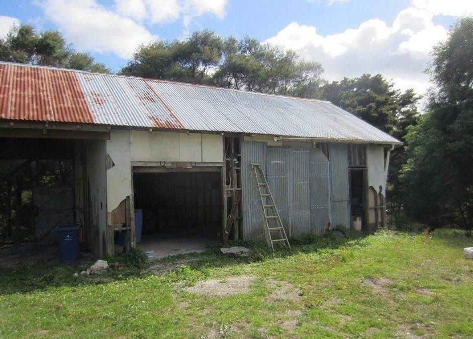 Rebuilding the barn